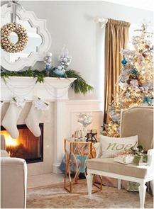blue gold christmas