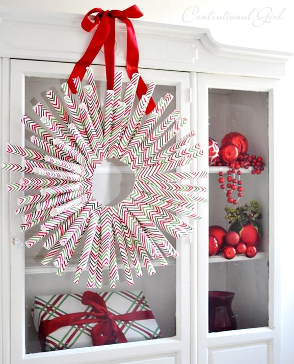 gift wrap wreath