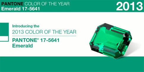 pantone color of the year emerald 2013