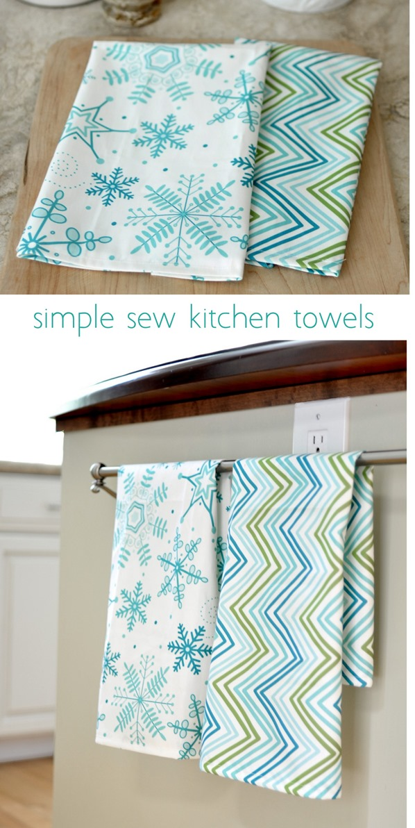 simple sew kitchen tea towels