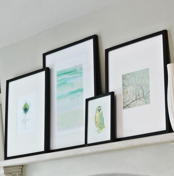 artwork in kitchen