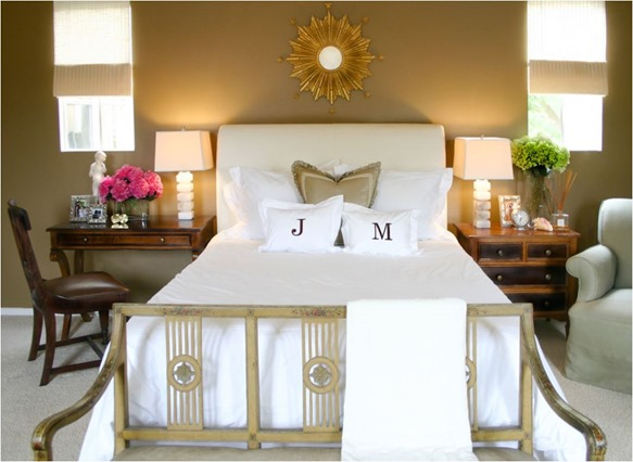 mismatched traditional nightstands