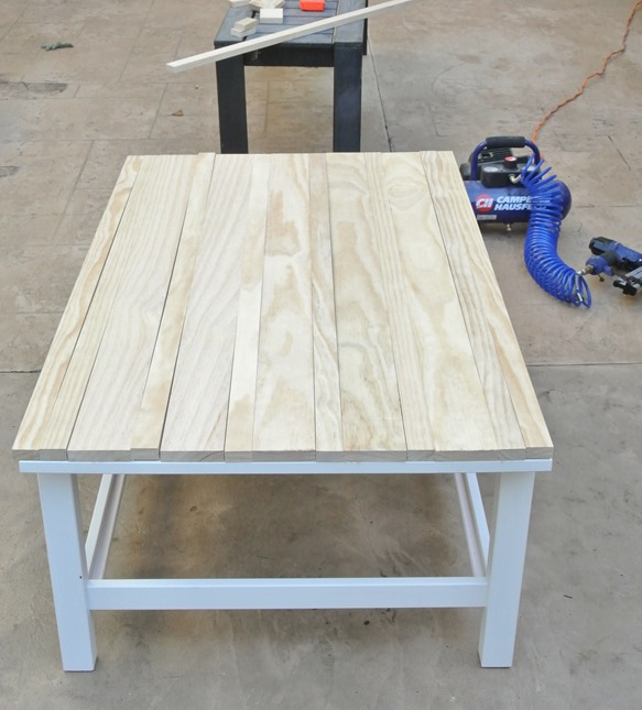 pine cuts - Weathered Gray Coffee Table Centsational Girl