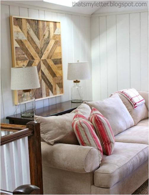 plank wood art