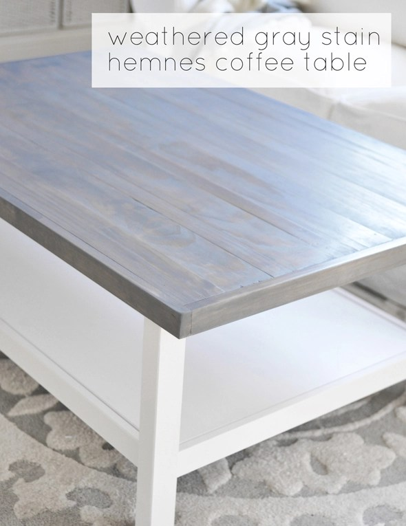 I Used The White Version Of The Coffee Table But I D Love To Repeat This Project In Another Space With The Black Base And A Walnut Stained Top As Darker