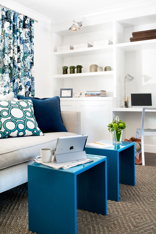 blue textiles jute interiors