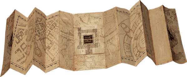 marauders map unfolded