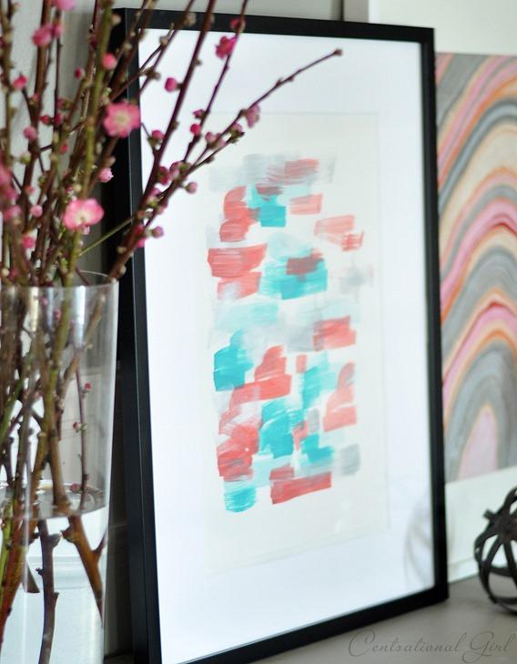 framed diy abstract art cg