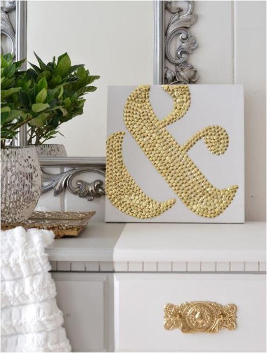 gold tack ampersand