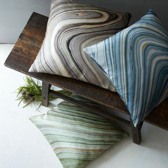 marble silk pillows