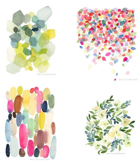 yao cheng watercolors