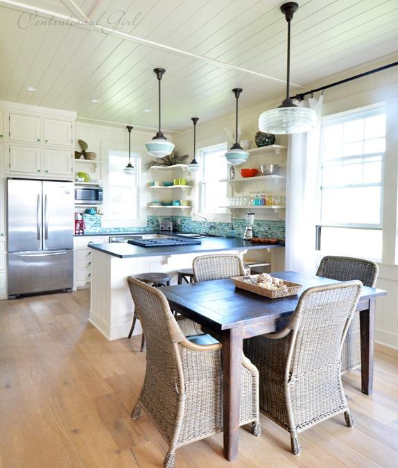 kauai beach cottage kitchen dining