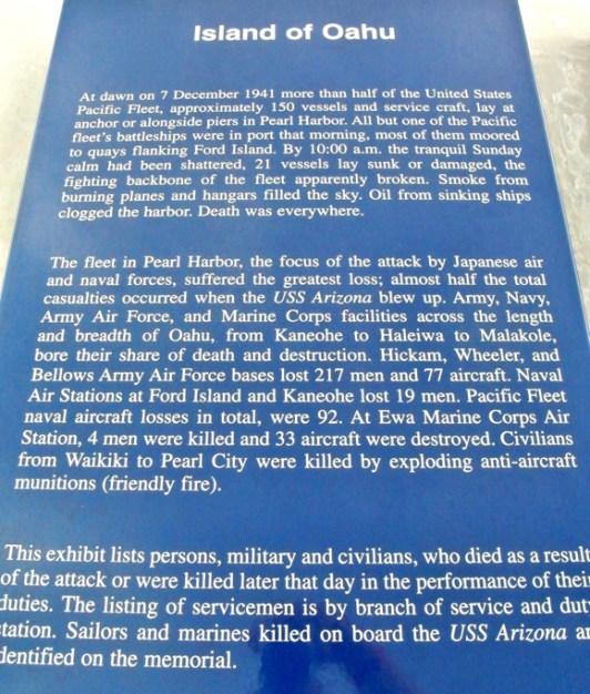 pearl harbor oahu memorial