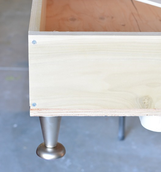 wood screws top and bottom
