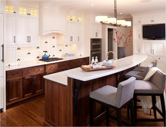 Wood And White Kitchen Popular Again Wood Kitchen Cabinets  Centsational Style