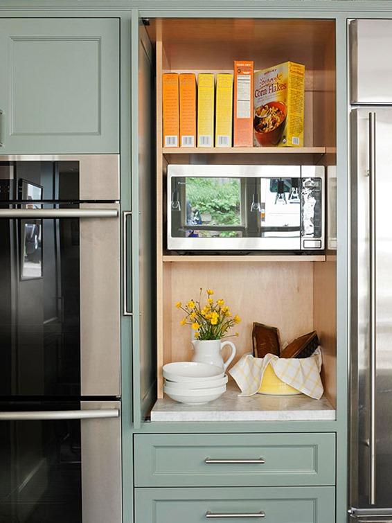 Bon Hidden Microwave Behind Cabinet