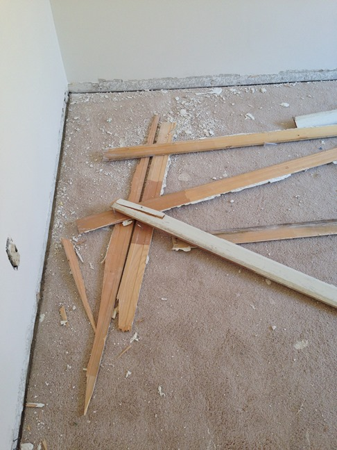 remove carpet and baseboard