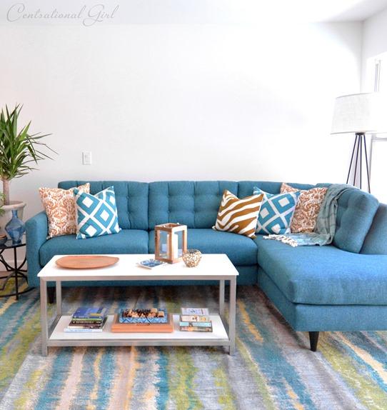teal logan sofa