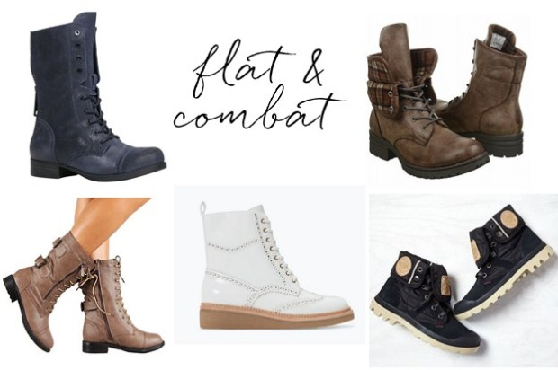 flat and combat boots