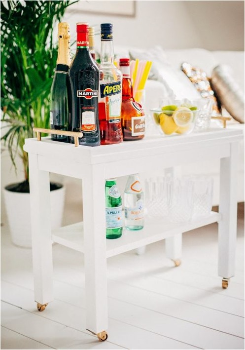 ikea hack nornas table bar cart