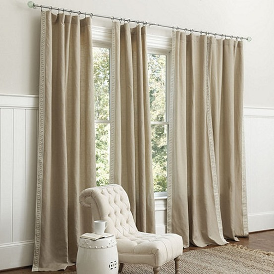 Panels With Greek Key Trim. Greek Key Trim Curtains