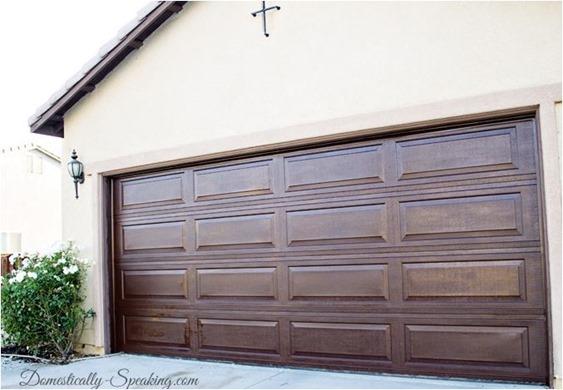 gel stain garage door