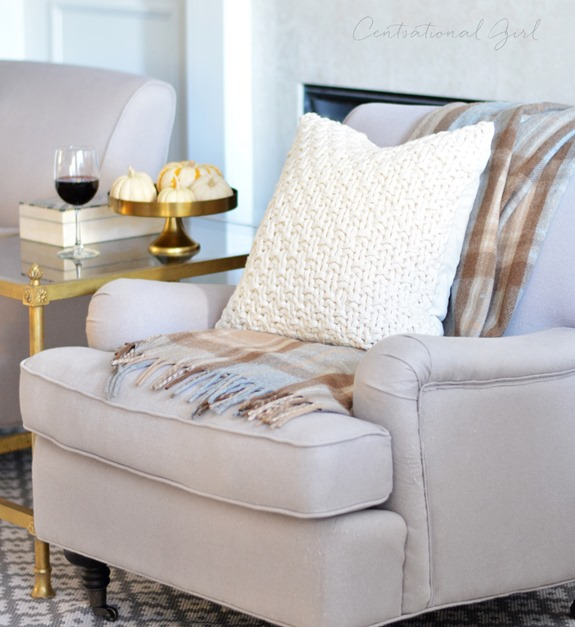 knit pillow wine glass