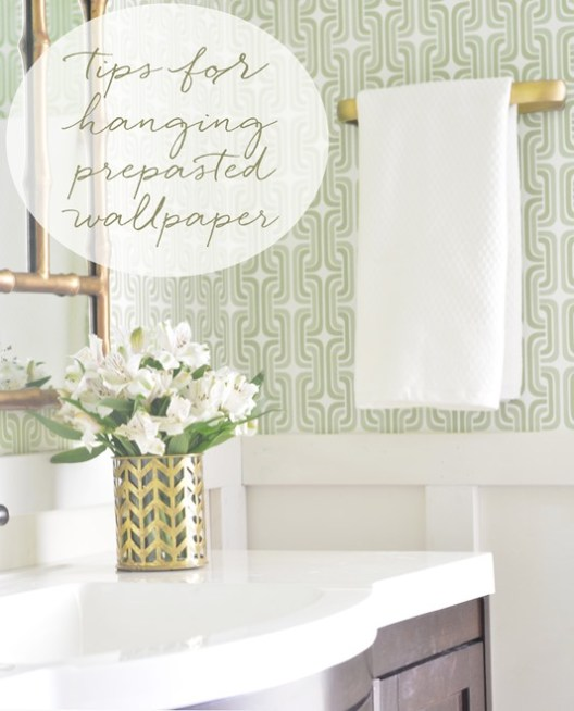 Hanging Prepasted Wallpaper Tips Resources Centsational Style