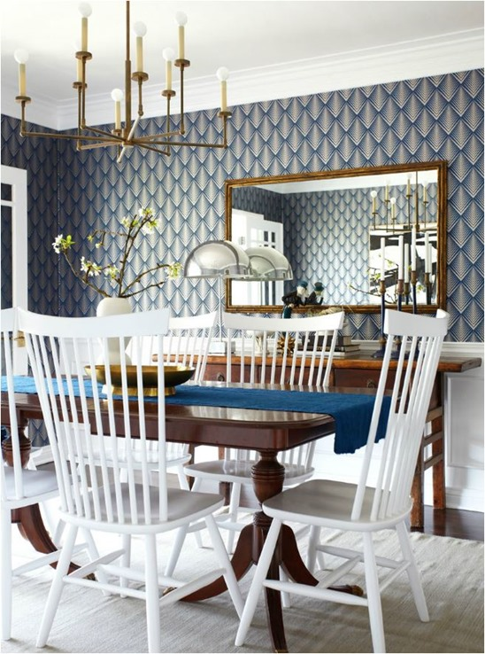 Best  medley as these dining rooms demonstrate Pack a modern punch with the additional use of a bold wallpaper or textile or black and white photography and