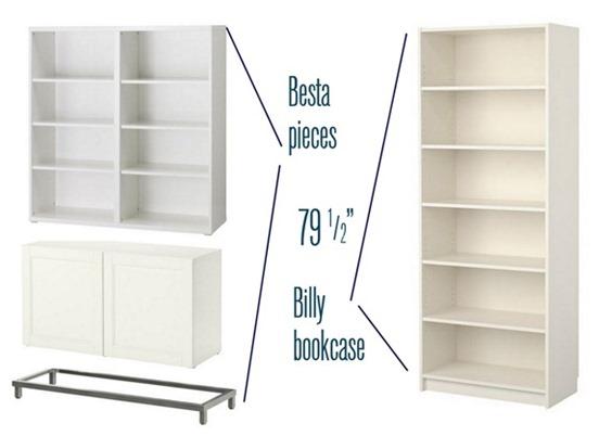 besta billy bookcase project