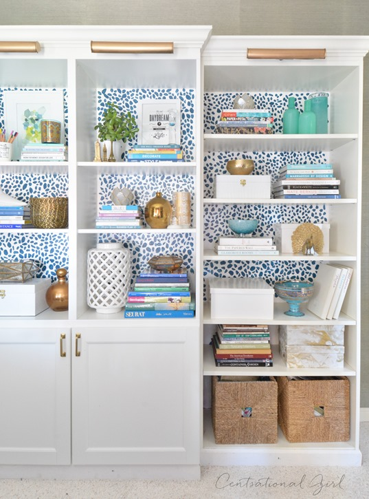 spotted besta billy bookcases
