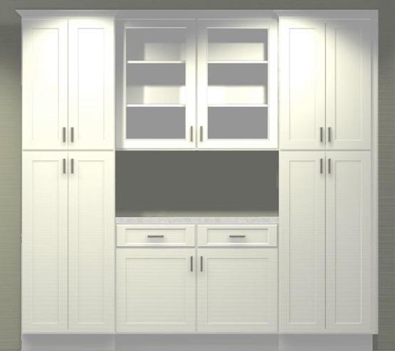 new kitchen pantry wall