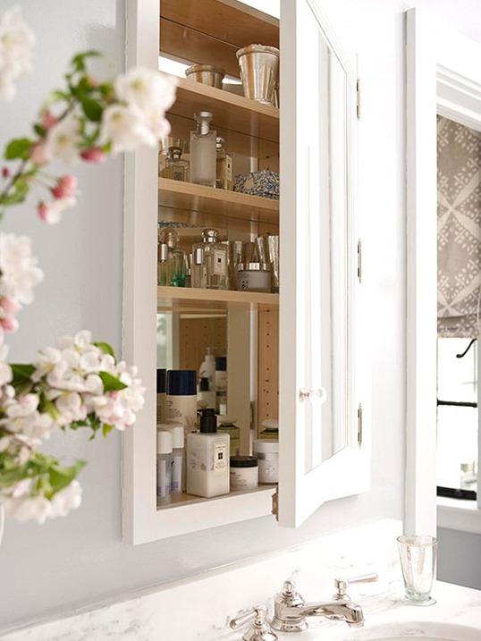 built in medicine cabinet