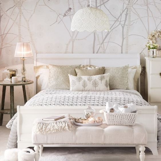 neutral pattern soothing bedroom