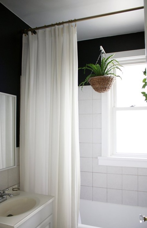 simple soft shower curtain