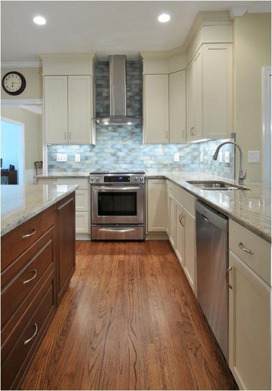 Beautiful white trim kitchen soffit