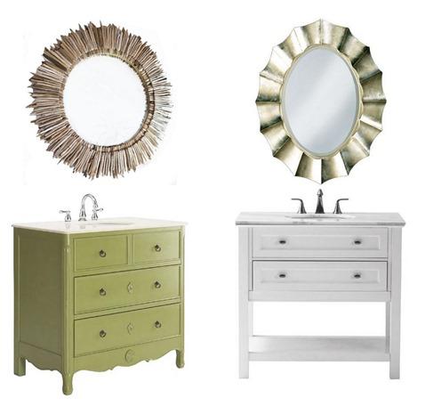 Fabulous bathroom vanity and mirror