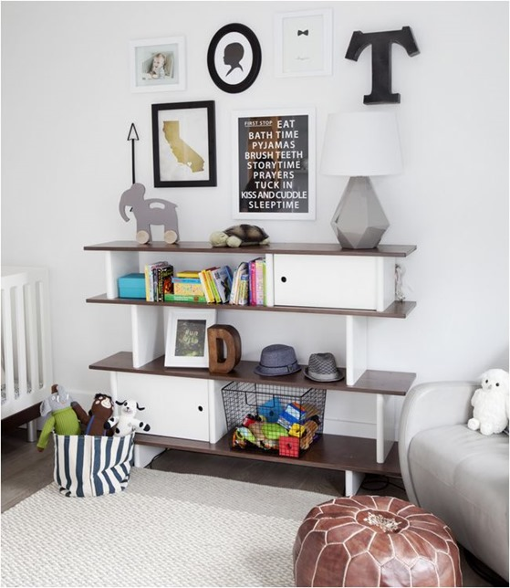 modern shelf unit kids room