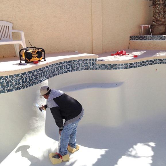 new plaster in pool