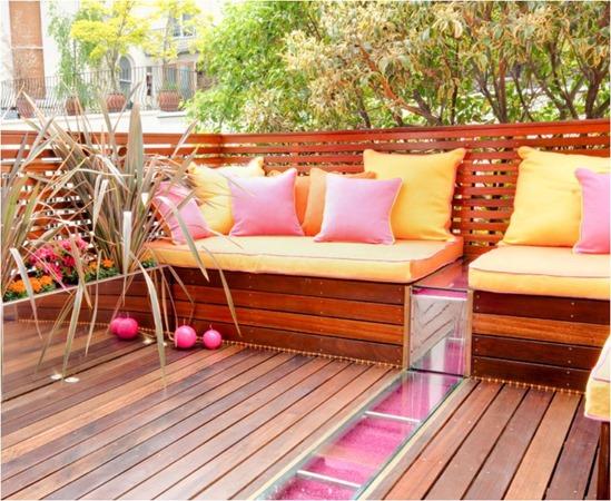 pink orange accents on deck