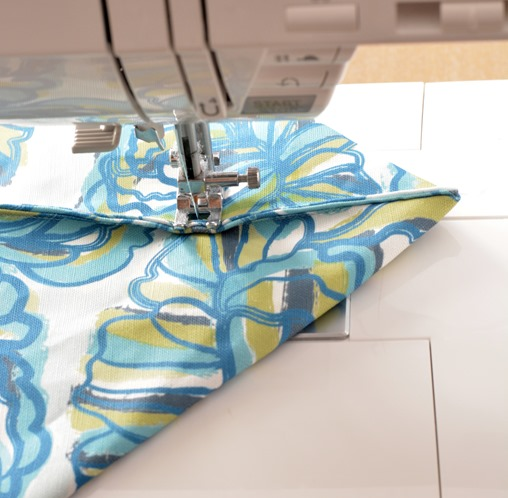 sew straight across
