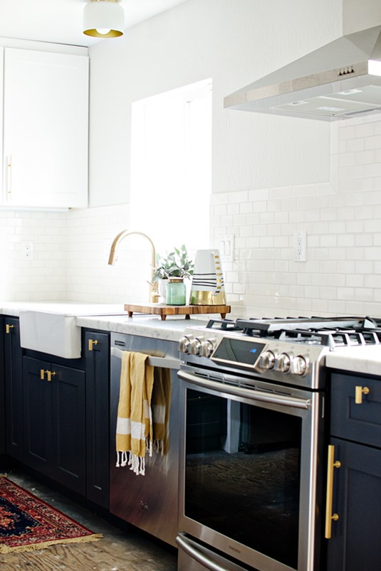 brass hardware charcoal cabinets