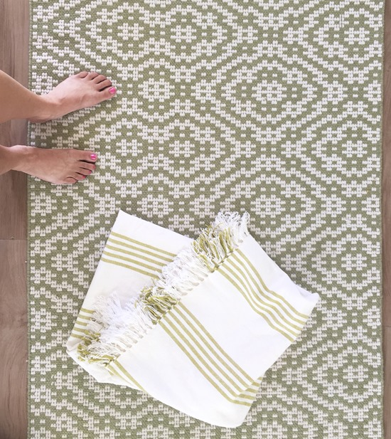 dash and albert poppy leaf outdoor rug