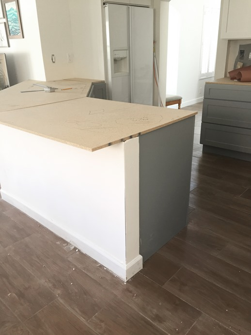 Trend kitchen counter template