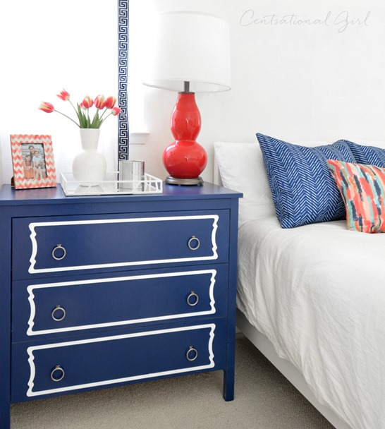 navy overlays chest of drawers