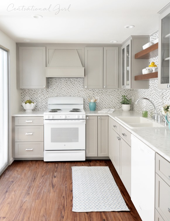 Gray white kitchen remodel centsational style - Creative ways upgrade grey kitchen cabinets beautifully ...