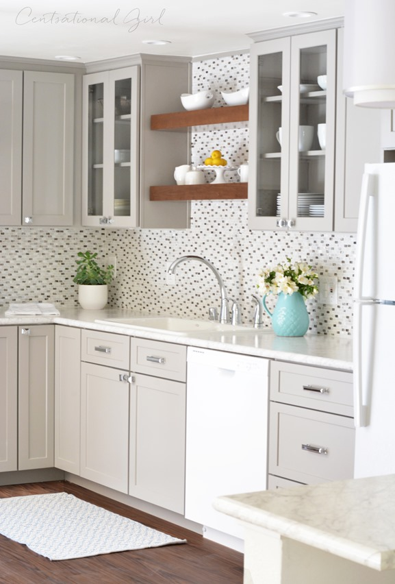 Gray White Wood Kitchen Remodel