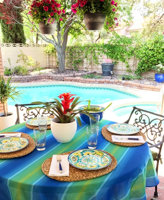 moms summer outdoor table