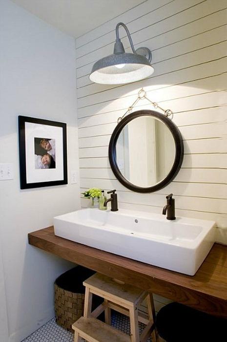 wood bathroom countertop vessel sink. Wood Countertops in Bathrooms   Centsational Style