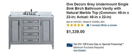 Elegant gray vanity